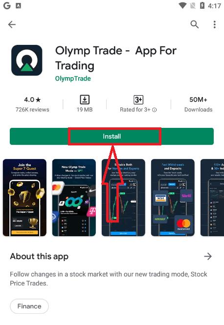 كيفية فتح حساب تجريبي على Olymp Trade