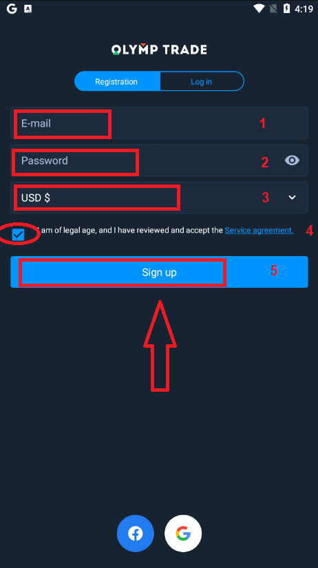كيفية فتح حساب وسحب الأموال في Olymp Trade