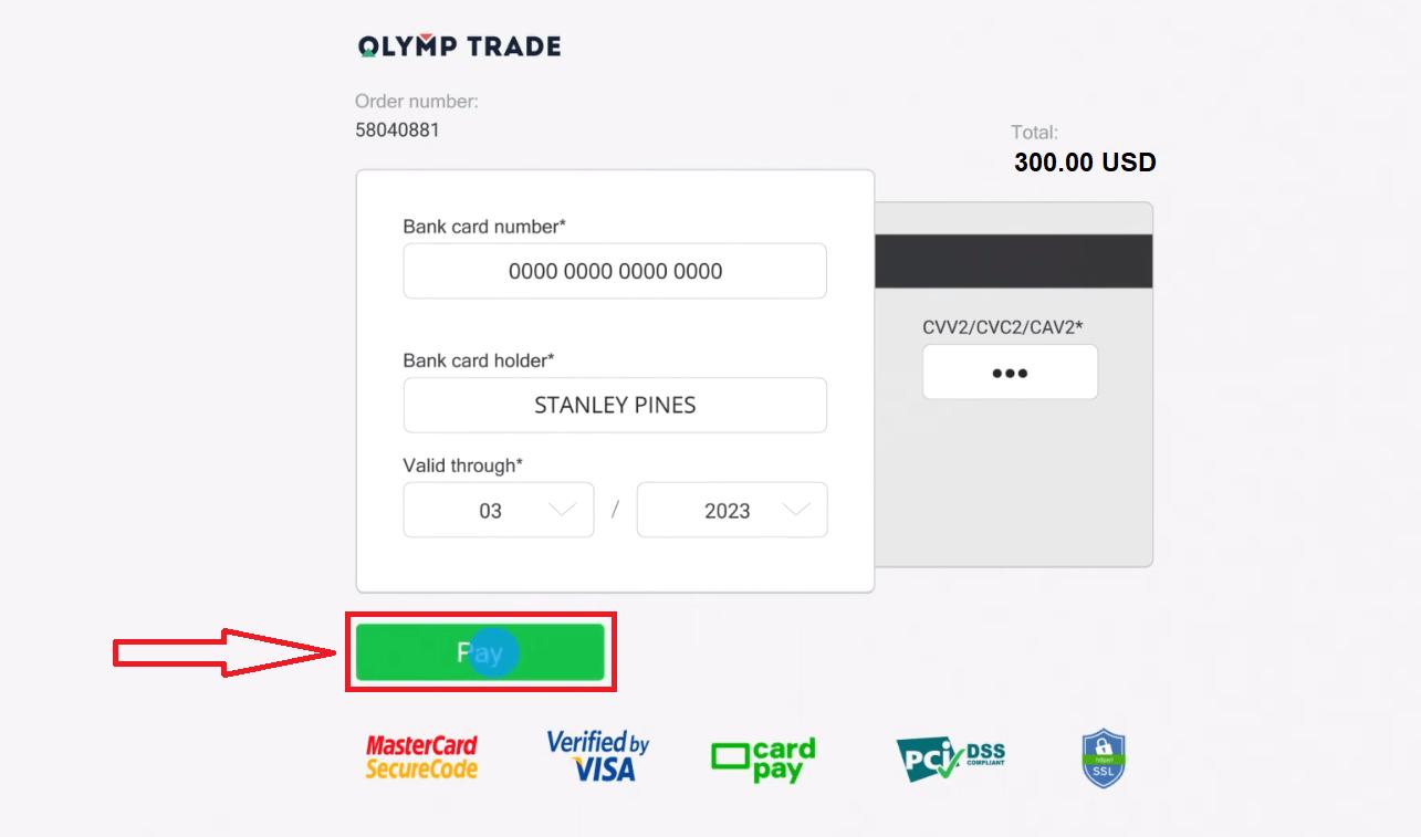 كيفية التسجيل وإيداع الأموال في Olymp Trade