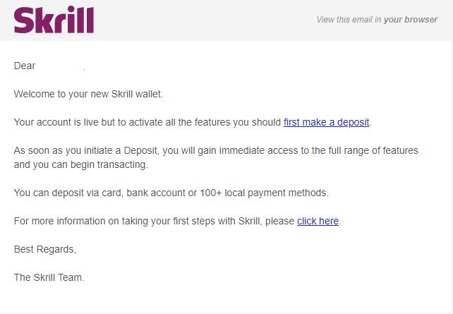 كيفية إيداع وسحب الأموال في Olymp Trade باستخدام محفظة Skrill الإلكترونية